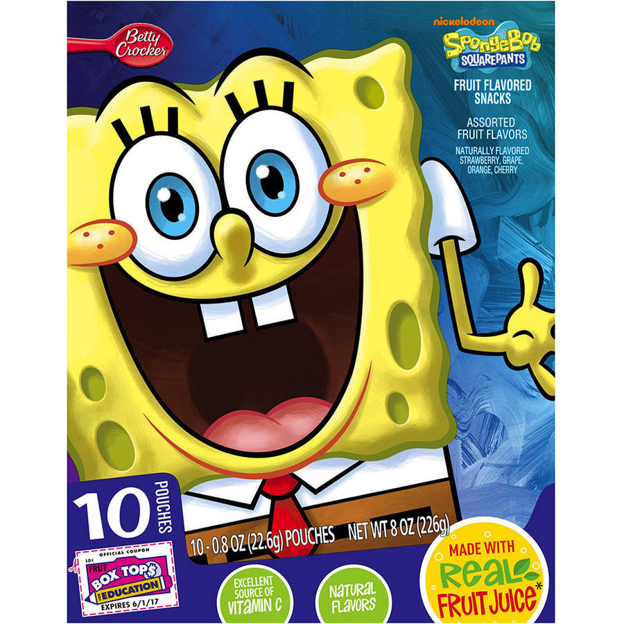 Betty Crocker? SpongeBob SquarePants? Fruit Flavored Snacks 10-0.8 oz. Pouches