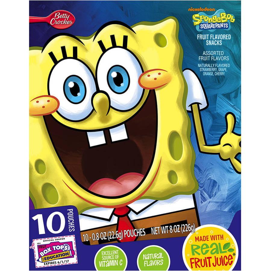 Betty Crocker? SpongeBob SquarePants? Fruit Flavored Snacks 10-0.8 oz. Pouches
