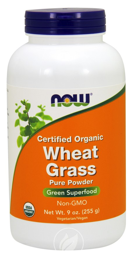 Now Foods – Wheat Grass, Certified Organic, 9 oz (255 g), Pack of 2