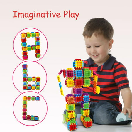 Set of 54 Large Stacking Blocks and Interconnecting Building Set for Boys & Girls, Educational Fun, Great Toy for Child development for Kids and Toddlers by Dimple