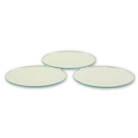 2.5 inch Glass Craft Small Round Mirrors 3 Pieces Mirror Mosaic Tiles