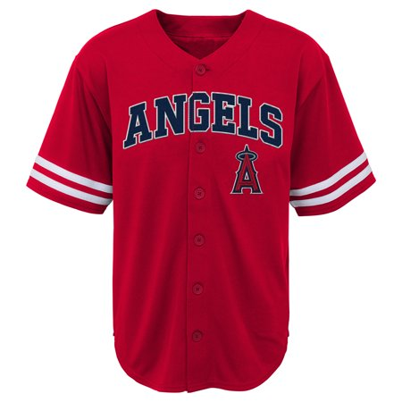 Halloween Club Events Los Angeles (MLB Los Angeles ANGELS TEE Short Sleeve Boys Fashion Jersey Tee 60% Cotton 40% Polyester BLACK Team Tee)