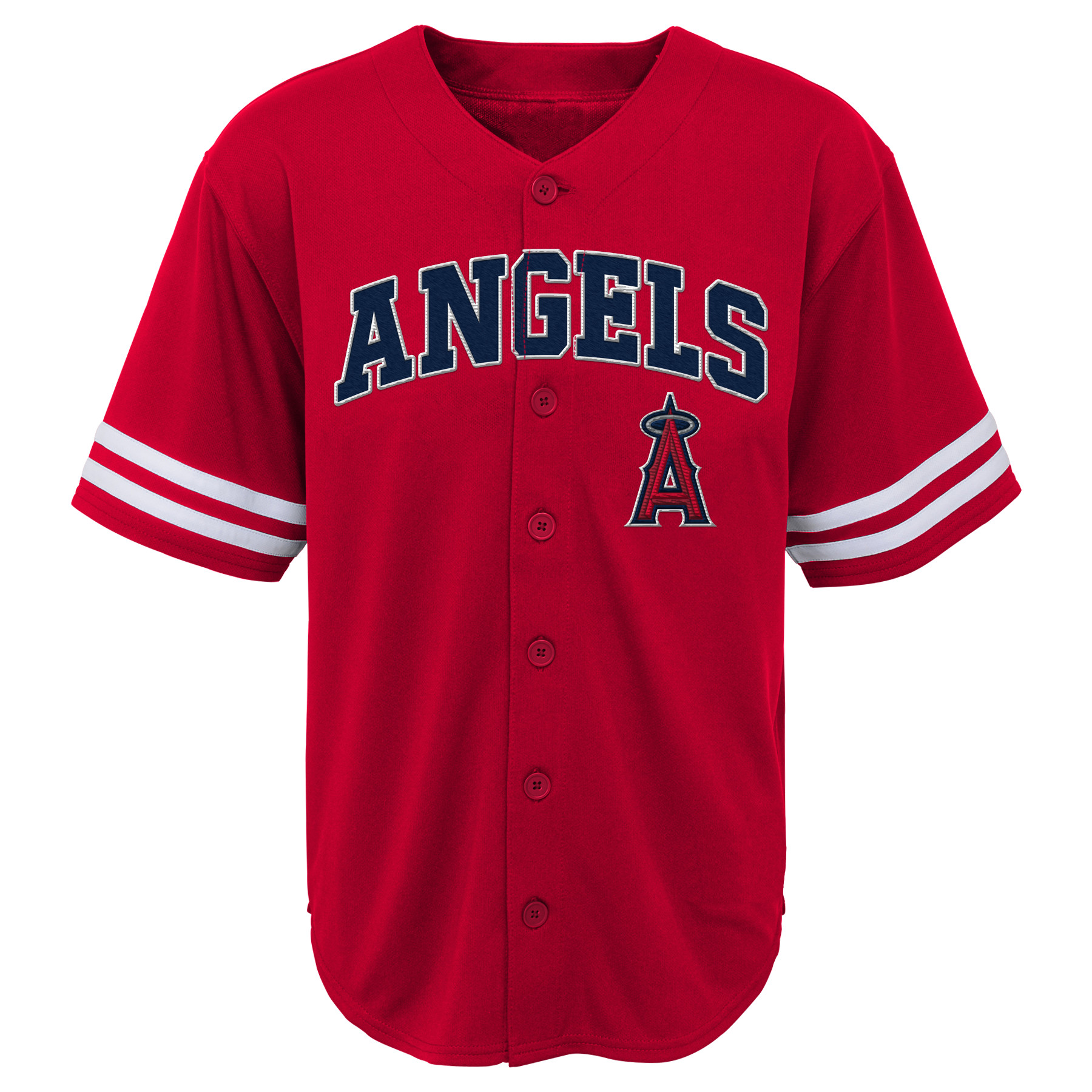 MLB Los Angeles ANGELS TEE Short Sleeve Boys Fashion Jersey Tee 60% Cotton 40% Polyester BLACK Team Tee 4-18