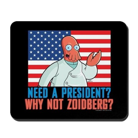 CafePress - Futurama Why Not Zoidberg - Non-slip Rubber Mousepad, Gaming Mouse - Zoidberg Mask