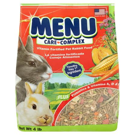 Menu Care Complex Vitamin Fortified Pet Rabbit Food  4 Lb