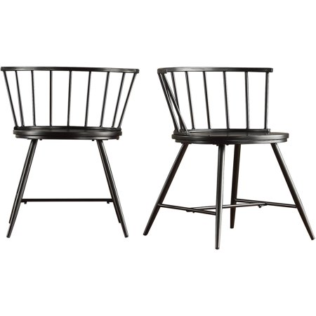 Chelsea Lane Low Back Windsor Side Chair, Set of 2, Multiple Colors Chippendale Bar Side Chair
