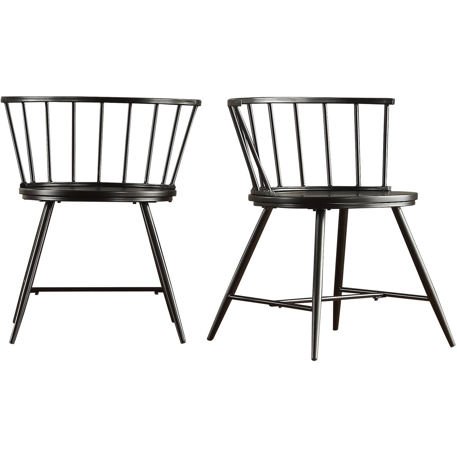 Chelsea Lane Low Back Windsor Side Chair , Set of 2, Multiple Colors