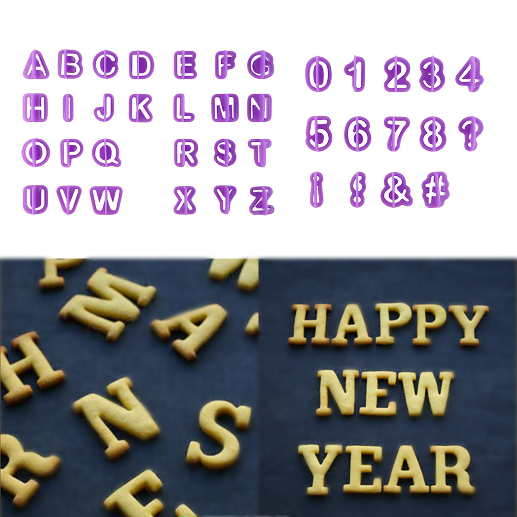 40Pcs Alphabet Number Letter Fondant Cake Cookie Cutter Pan Mold Biscuit by