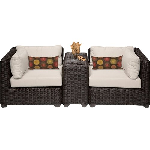 Sol 72 Outdoor Fairfield 3 Piece Conversation Set with Cushions