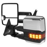 Spec-D RMX-C1088G2LED-P-ZM 88-98 Chevy C10 Towing Mirrors - Power