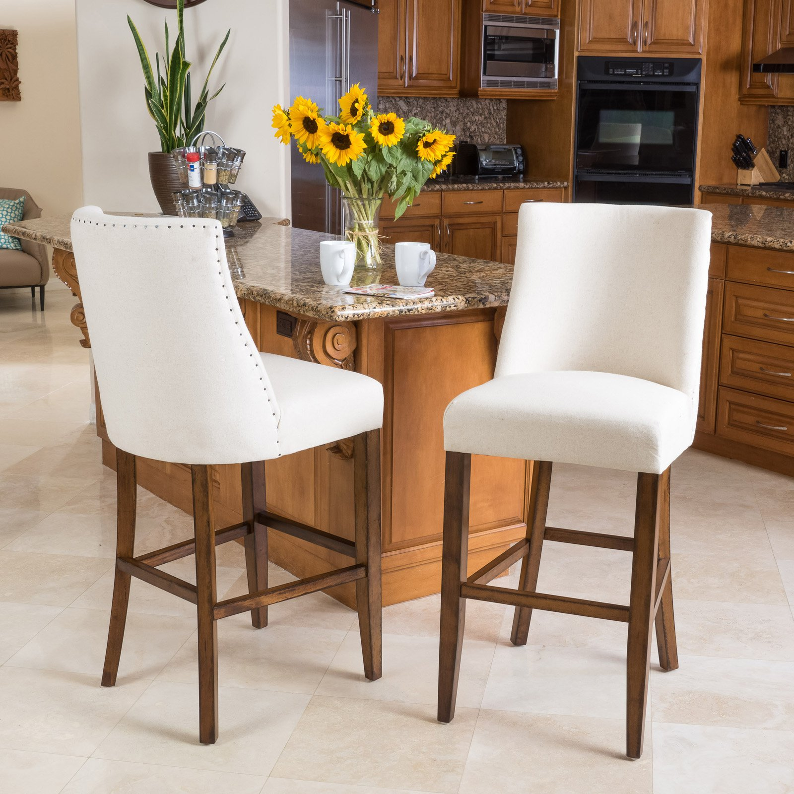 Cottonwood 31 in. Bar Stool with Cushion - Set of 2