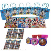 Disney's Mickey Mouse Goody Bag w/ Coloring Book Party Favor LtBlue (42Pc)FV