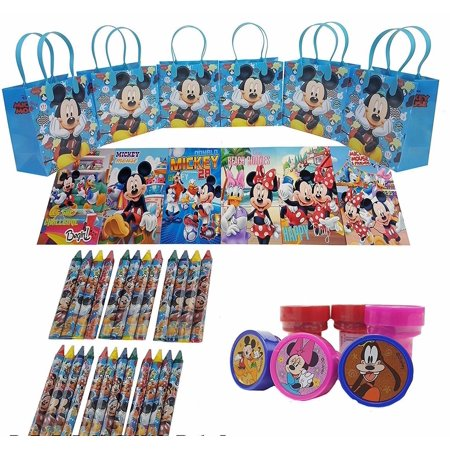 Disney's Mickey Mouse Goody Bag w/ Coloring Book Party Favor LtBlue (42Pc)FV - Mickey Mouse Halloween Party Cartoon