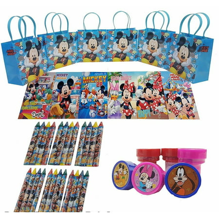 Disney's Mickey Mouse Goody Bag w/ Coloring Book Party Favor LtBlue (42Pc)FV](Halloween Goody Bags For Kindergarten)