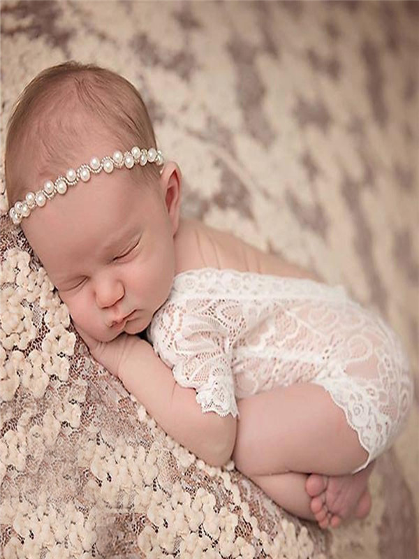 Toddle Infant Baby Girl Photography Prop Lace Romper Jumpsuit Princess Clothes S