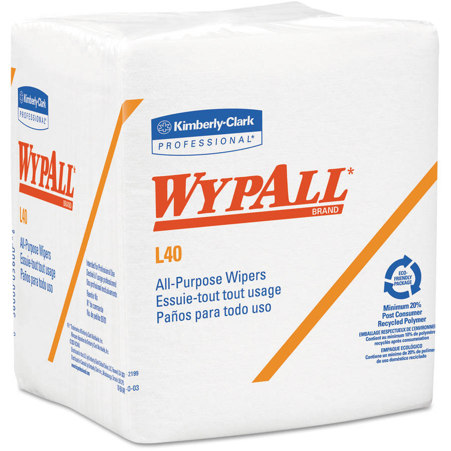 Kimberly-Clark Professional Wypall L40 Cloth-Like Quarter-Fold Wipes, 18 Boxes of 56 Sheets, 1008 Wipes Total