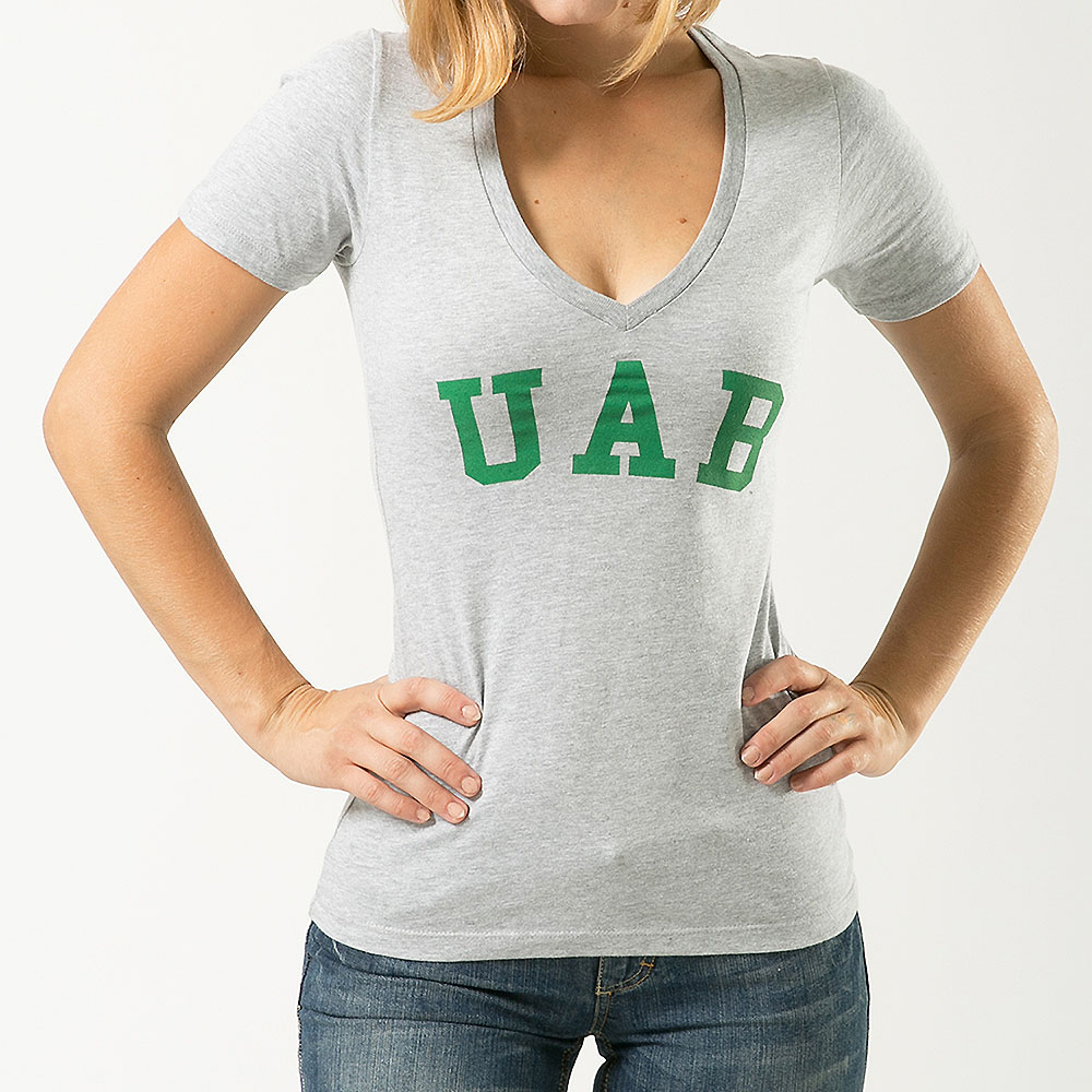 UAB Blazers Womens Game Day T-Shirt (Gray)