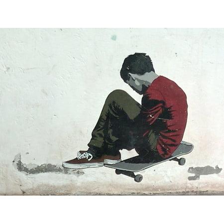 Skateboard Poster - LAMINATED POSTER Skateboard Graffiti Spray Day Poster Print 24 x 36