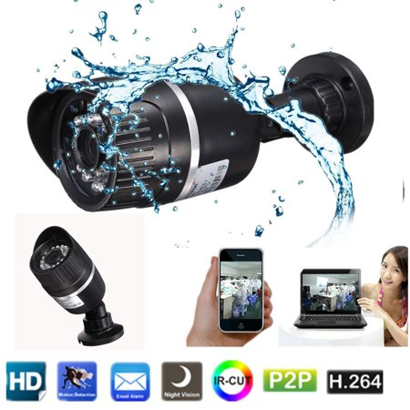 1280×720P Waterproof Security Surveillance IP Camera System with Night Vision & Motion Detection APP Remote Control Indoor Outdoor Home Office For Android / IOS Phone