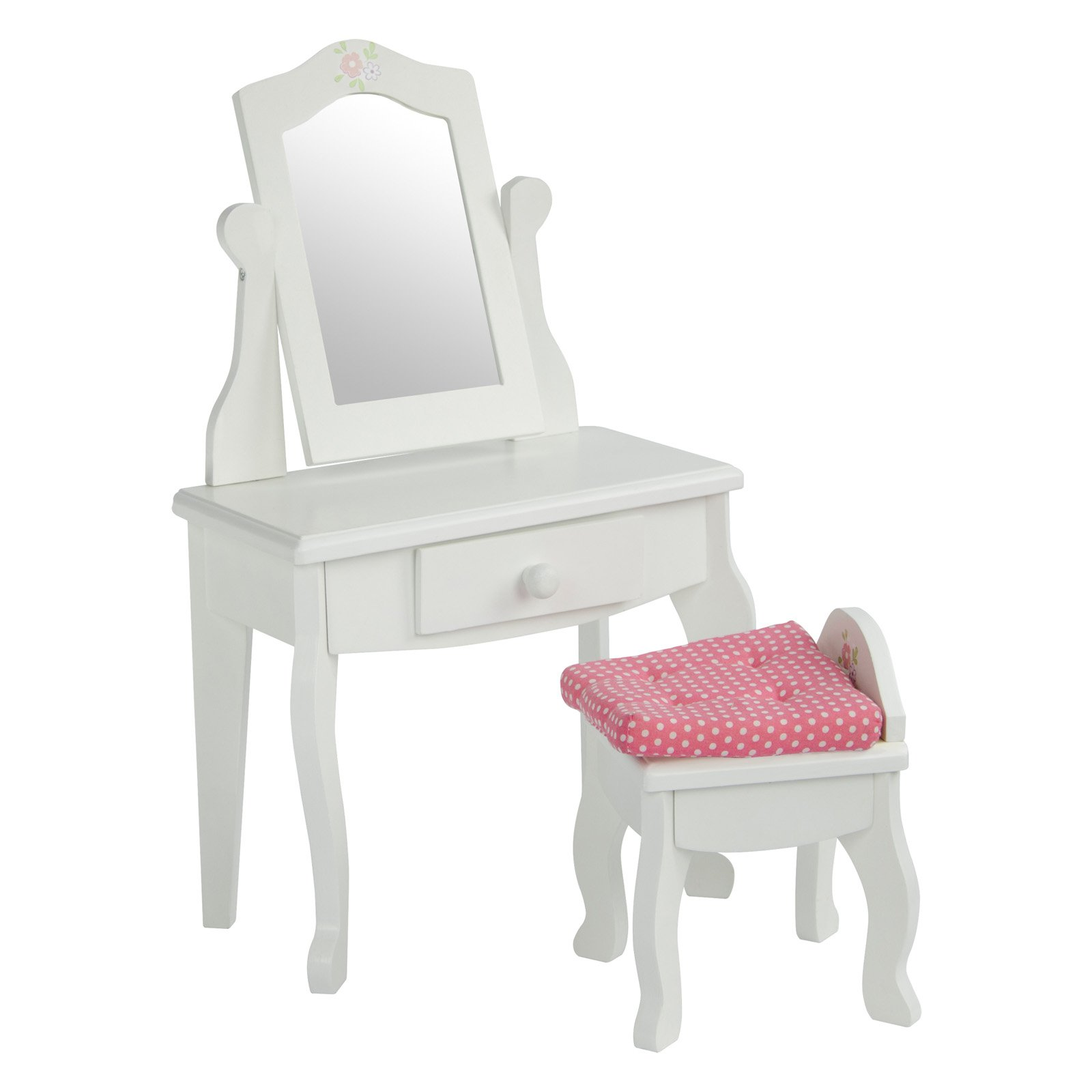 Oliviau0027s Little World - Princess Vanity Table and Chair Set with Rotatable Mirror (White)  sc 1 st  Walmart & Oliviau0027s Little World - Princess Vanity Table and Chair Set with ...