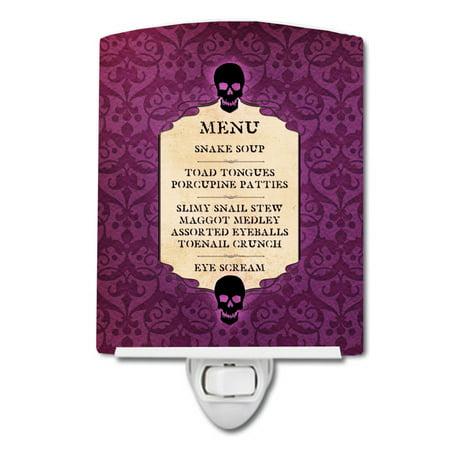 Goulish Menu including Eye Screen Snake soup Halloween Ceramic Night Light SB3005CNL