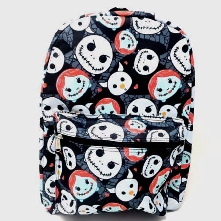 Nightmare Before Christmas Jack & Sally Skellington 16 Backpack Black Color