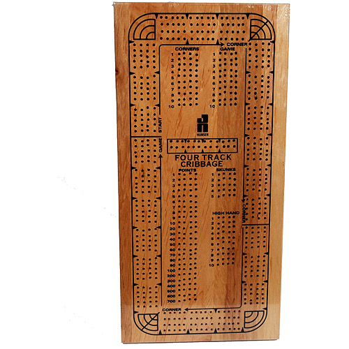 Classic Games Collection 4-Track Continuous Cribbage Board