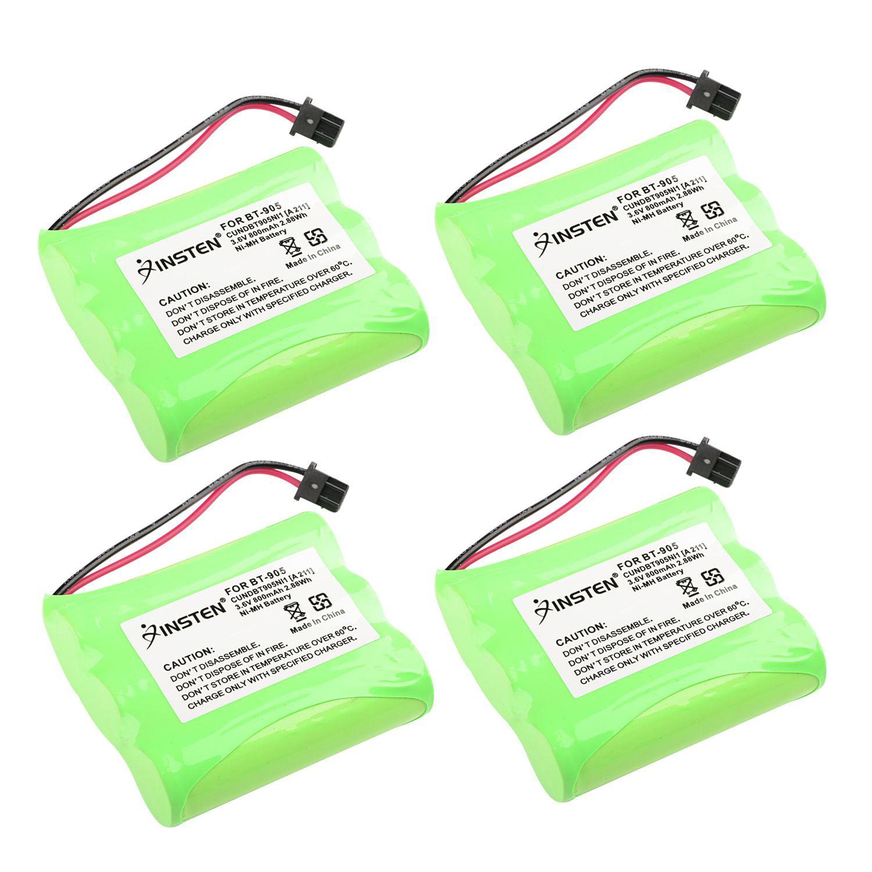 Insten Extra Cordless Home Phone Battery For Uniden BT-905 5.8GHz phone CEZAI998 DXAI5186-2 EXAI5580 EXI8560 (4 Pack) (4-Pack Bundle)