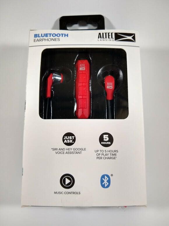 RED Altec Lansing MZX120 Wireless Bluetooth Sport In-Ear Earphones