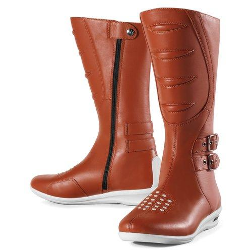 Icon Womens Sacred Tall Leather Boots Brown 7