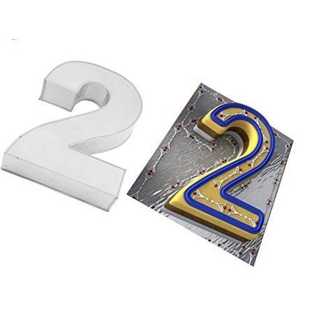 Large Number Two 2 Wedding Birthday Anniversary Baking Cake Tin 14 X 10