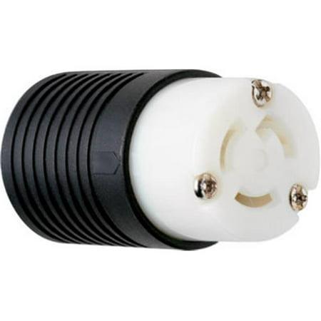 15a Locking Connector (PSL515CCCV3 Locking Connector, 15A, Black & White)