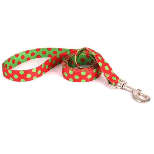 Yellow Dog Design Christmas Polka Dot Lead