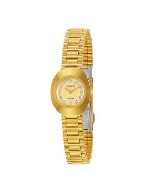 Rado Original Gold Tone Crystal Dial Women's Quartz Watch Ladies R12559633