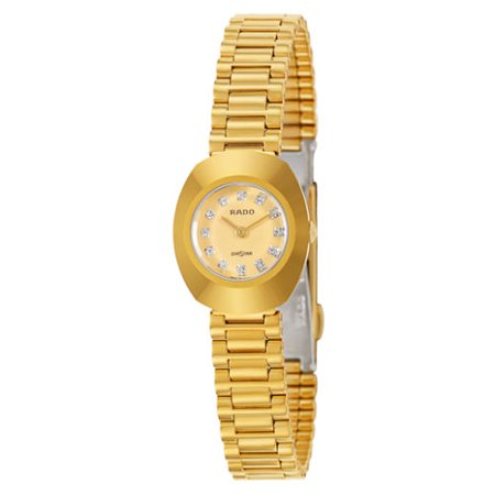 Rado Original Gold Tone Crystal Dial Women's Quartz Watch Ladies