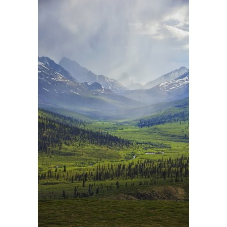 Storm Clouds Over The Klondike Valley In Tombstone Territorial Park Near The End Of Dempster Highwayyukon Canada Canvas Art   Robert Postma  Design Pics  24 X 38
