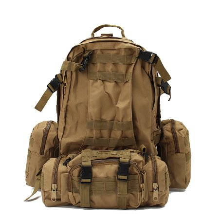 a198674370a8 3 Colors 60L Waterproof Tactical Backpack Oxford Cloth Bag Pouch for Outdoor  Camping Hiking Trekking Fishing Hunting Bag with 3 Molle Pouches -  Walmart.com
