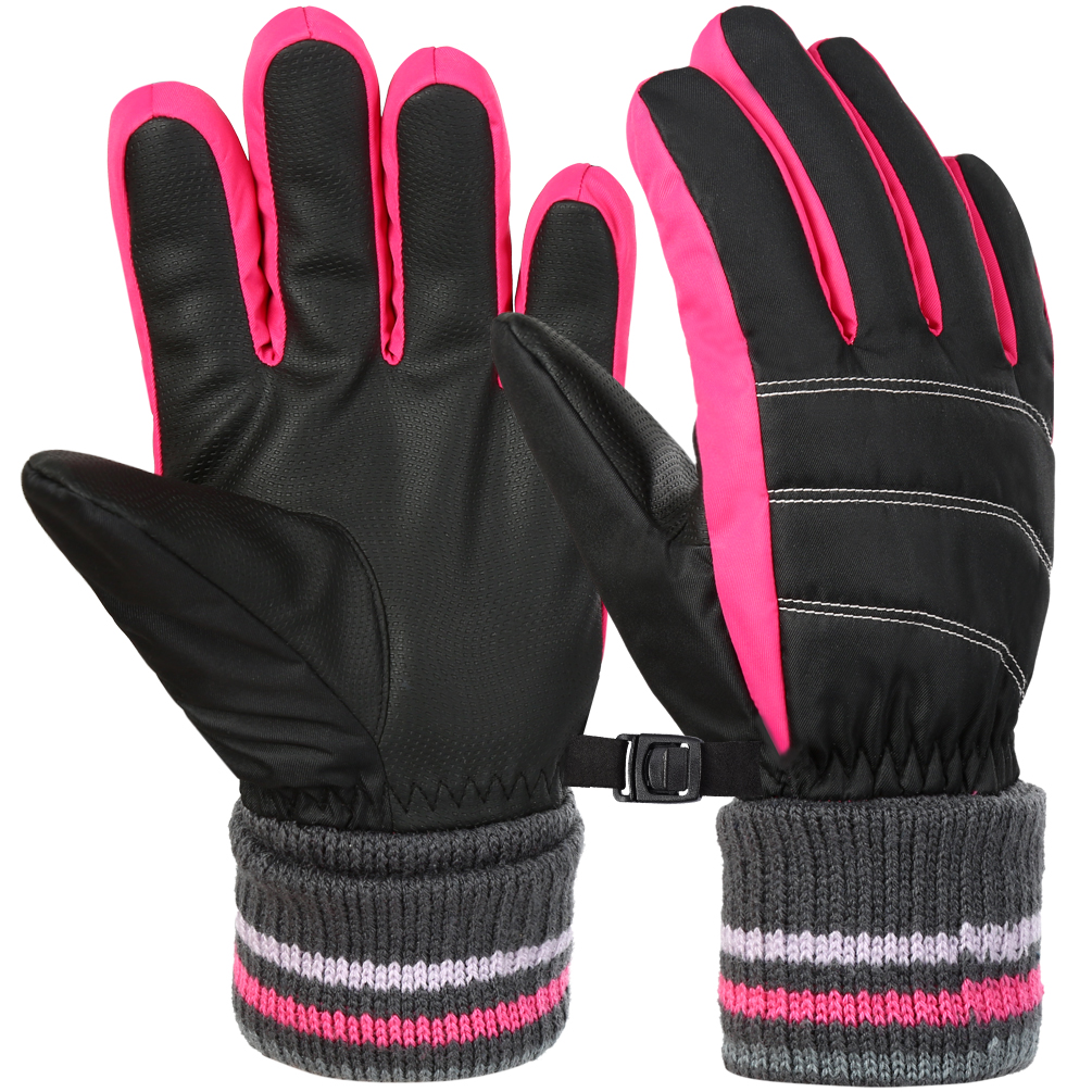 Waterpoof for Children Winter Outdoor Sports Skiing,Cycling Kids Ski Gloves