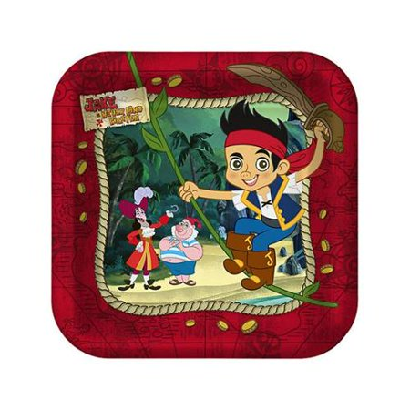 Hallmark BB021920 Jake And The Never Land Pirates Cake Plates - 8-Pack