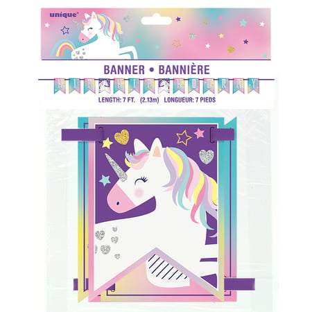 (2 pack) Rainbow Unicorn Party Banner, 7 ft, 1ct](Unicorn Party)