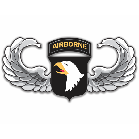 3.8 Inch 101st Airborne Jump Wings Sticker Decal
