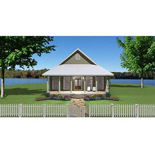 TheHouseDesigners-7650 Cottage House Plan with Slab Foundation (5 Printed Sets)