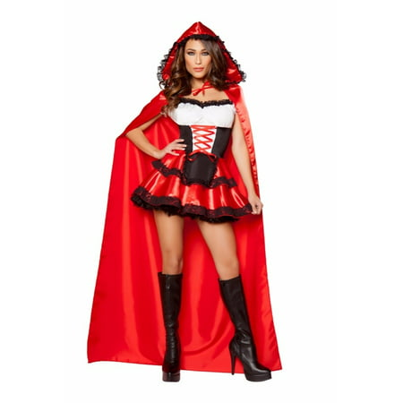 Roma Costume Halloween Party 2 Piece Little Red Rider - Red/Black/White - Party Halloween 2017 Roma