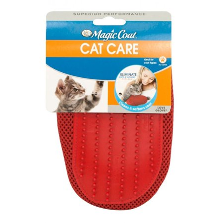Four Paws Love Glove Grooming Mitt for Cats One Size Fits All - (9