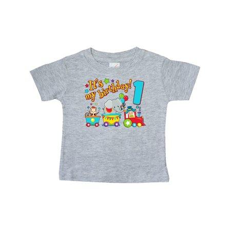 My First Halloween Baby T Shirt (It's my Birthday- circus train 1st Birthday Baby)