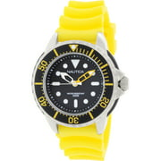Nautica Men's Sport N18635G Yellow Resin Quartz Watch
