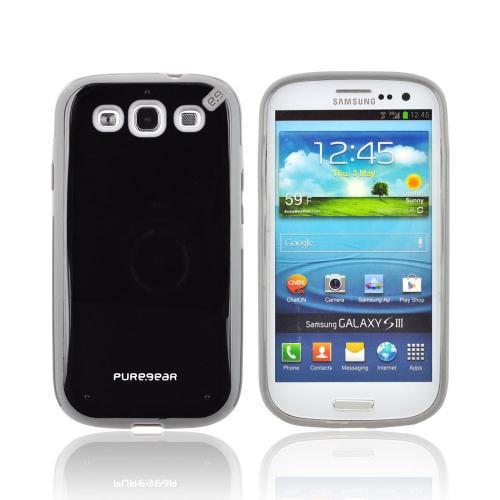 OEM PureGear Samsung Galaxy S3 Slim Shell Hybrid Hard Case  02-001-01692 - Black/ Gray