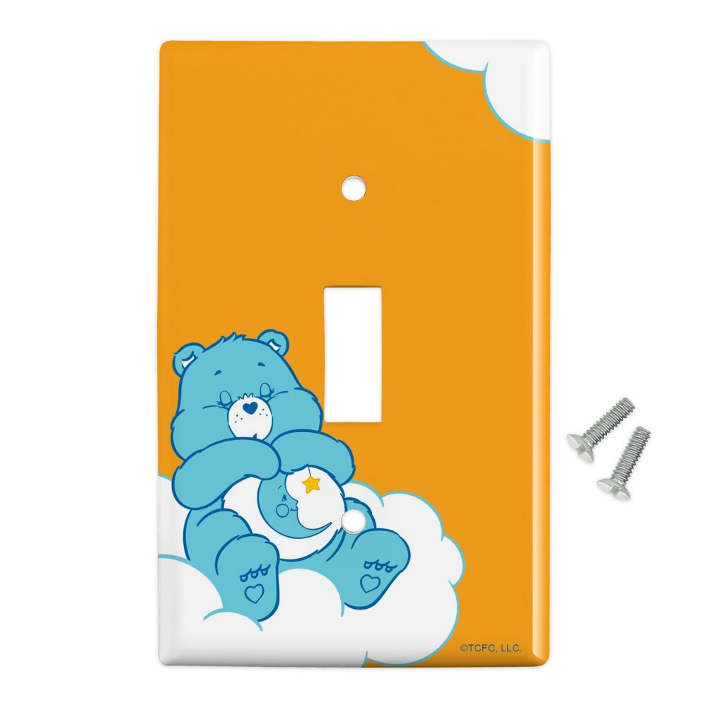 Care Bears Bedtime Bear Plastic Wall Decor Toggle Light Switch Plate Cover Walmart Com Walmart Com
