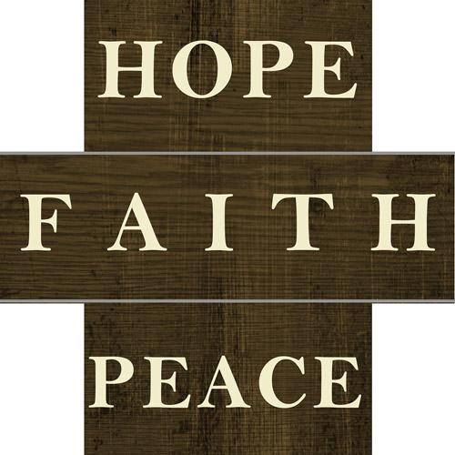 Lacquered Hope Faith Peace