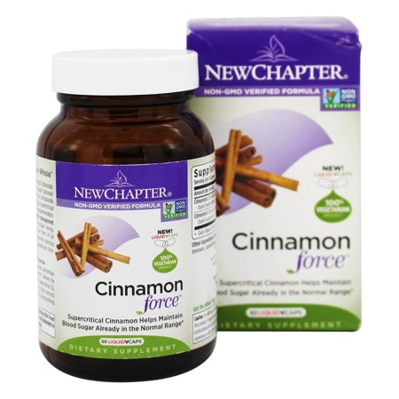 Force 60 Capsules - New Chapter - Cinnamon Force - 60 Vegetarian Capsules